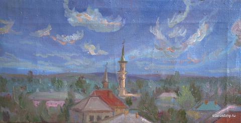 Орск, Старый город, вид с горы. Художник Старостина Наталья Викторовна.